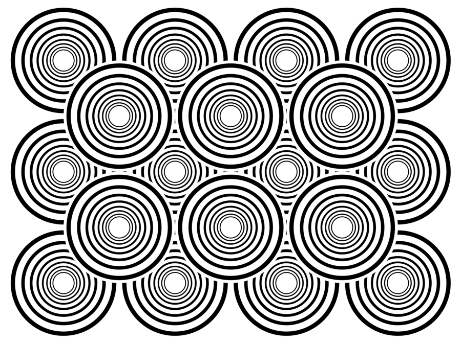 Coloring Pages Optical Illusion Color