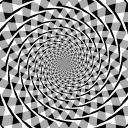 フレーザー錯視の渦巻き錯視